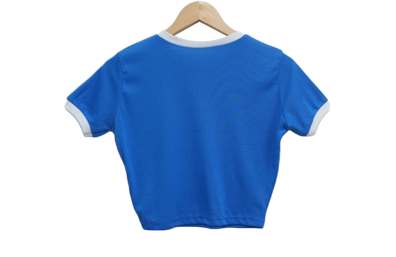 반팔 티셔츠 블루 색상 이미지-S1L7