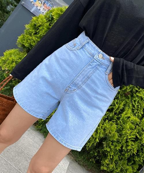 Ice Blue Nan Spandex 3.5 Part Jeans