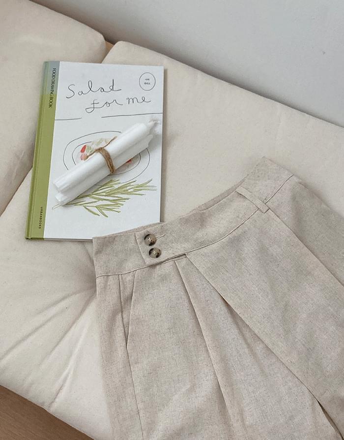 linen double slacks