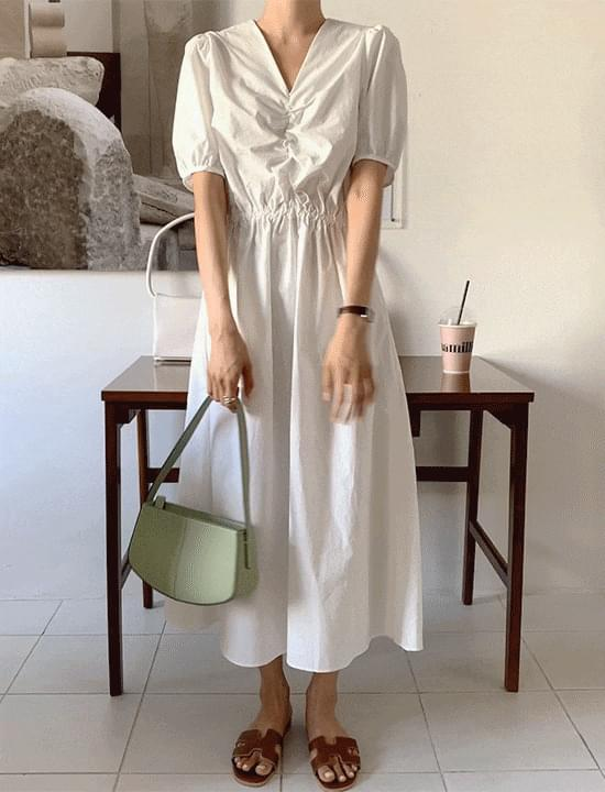 Another shirring long Dress