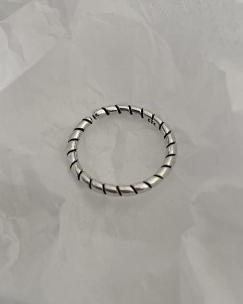 Four Me Simple Twisted Layered Silver Ring