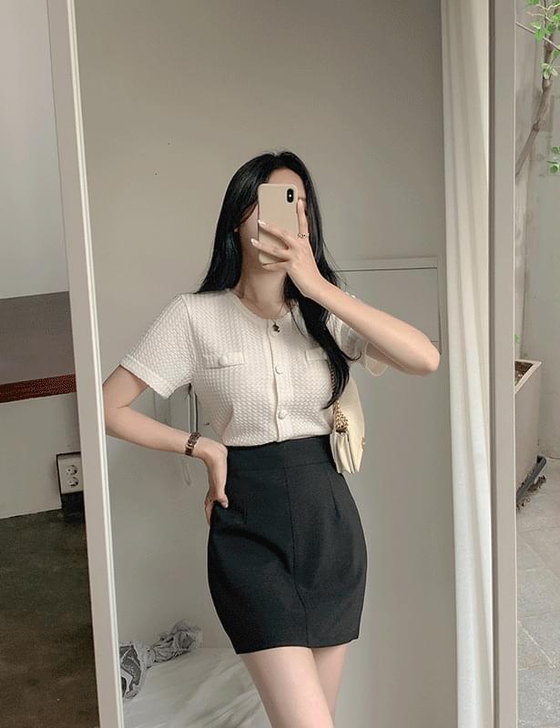 Prima round short sleeve cardigan