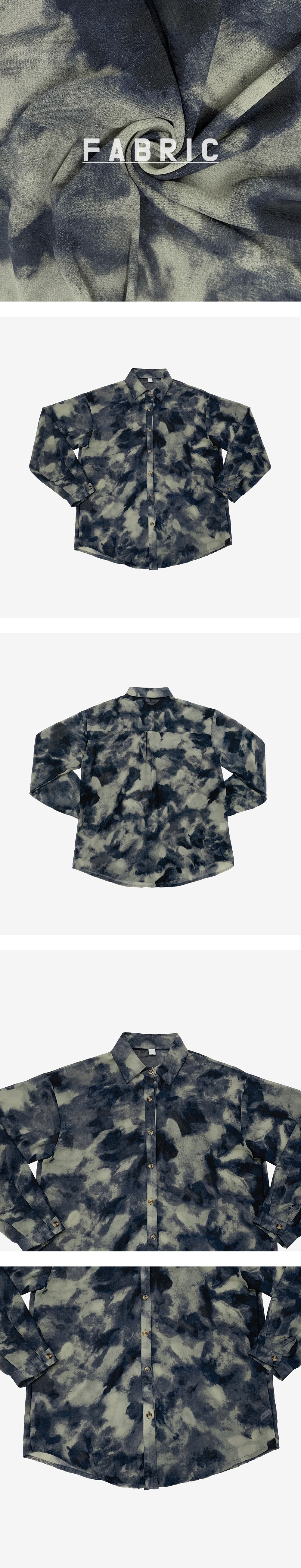 Jimmy tie-dye see-through shirt