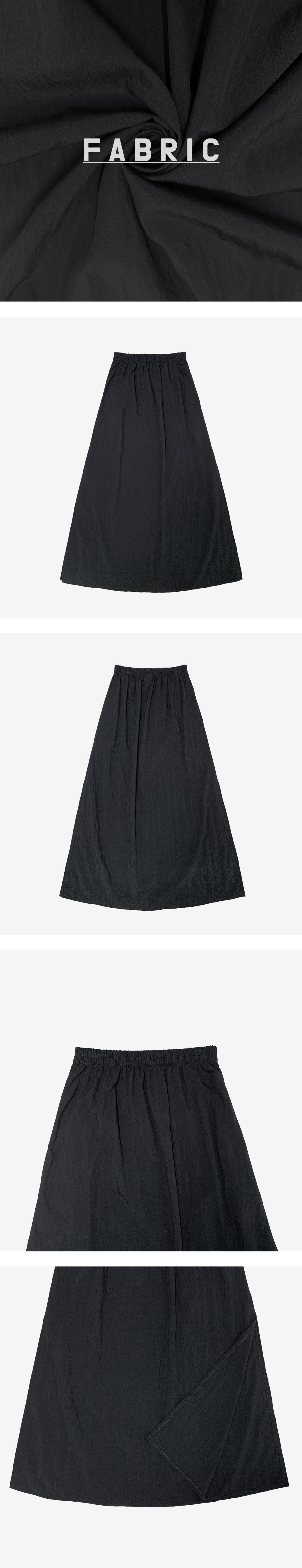 head slit long skirt