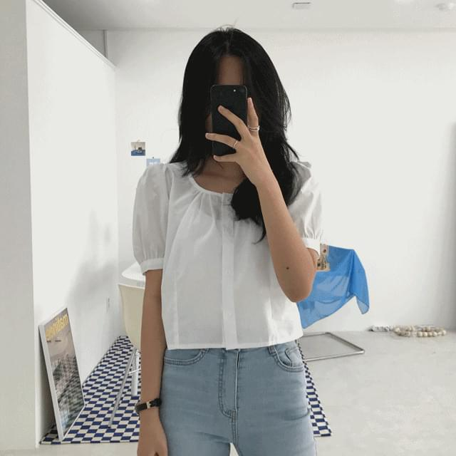 mini puff blouse