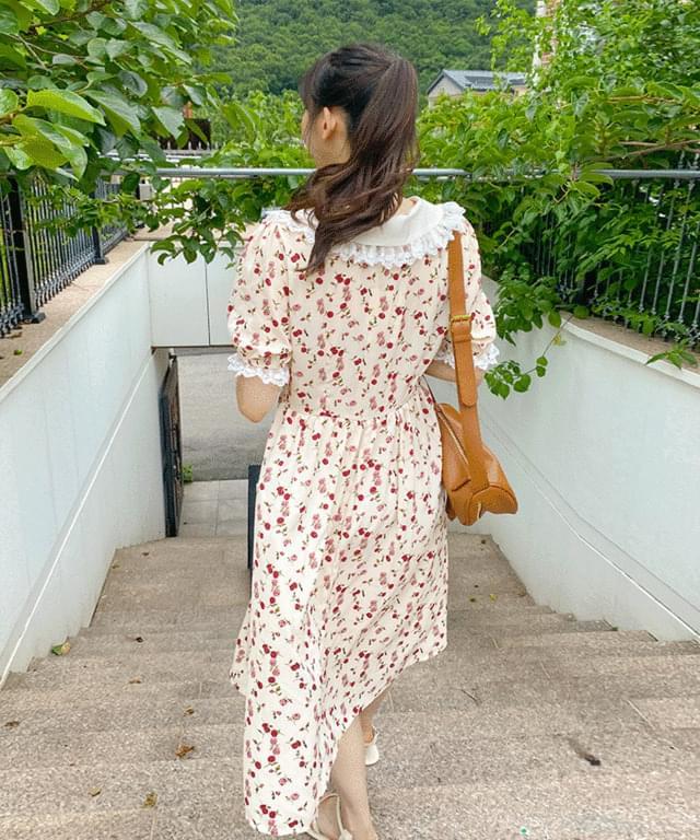 Big Size 55-120 Teria Collar Midi Dress