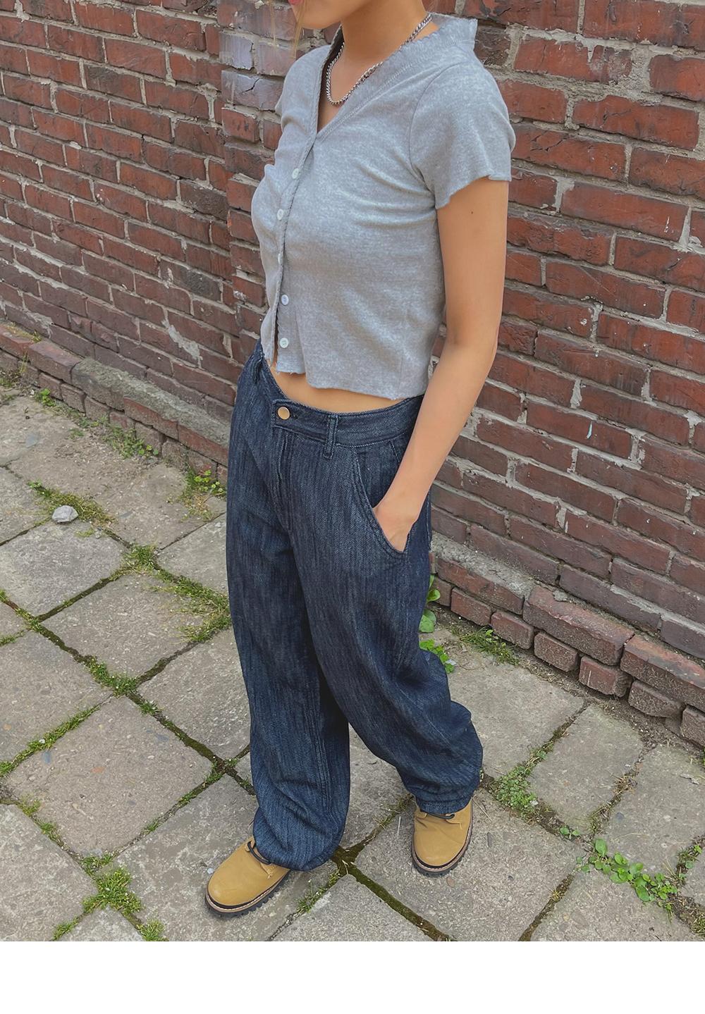 Raw Summer Wide Denim Pants