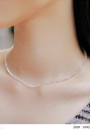 RULS CLEAR BEADS NECKLACE