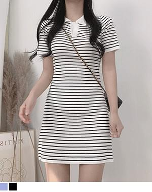 Riani collar striped Dress