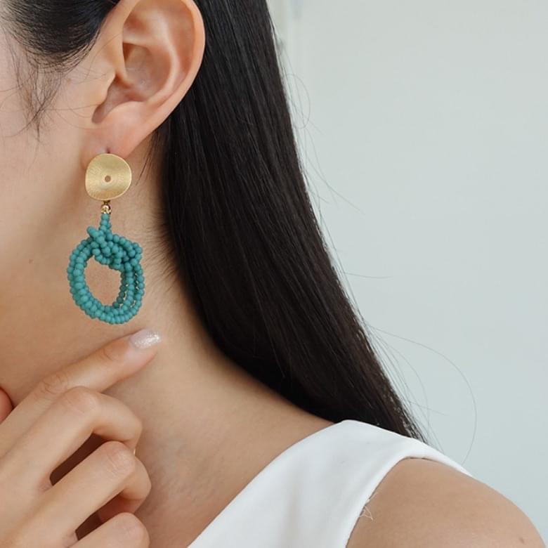 Beaded Nickel-Free Stitch Earrings