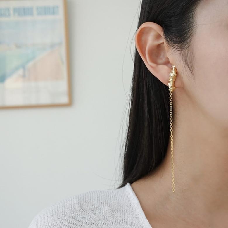 Drop Ring Line Nickel-Free Stitch Earrings