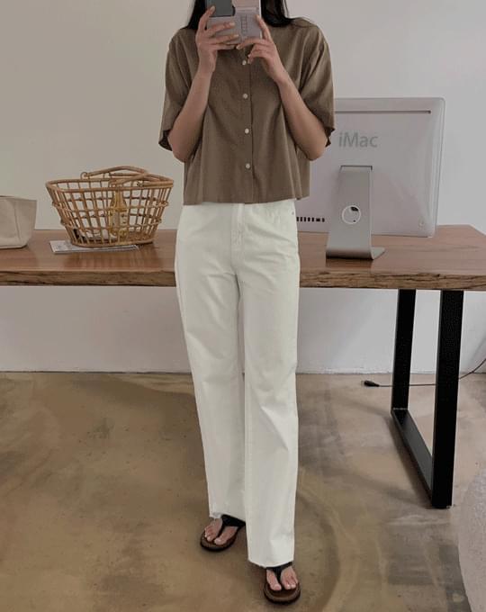 Barol Wide Long Cut Cotton Pants - 2 color