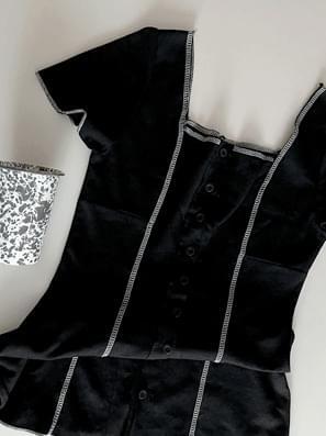 stitch square mini Dress