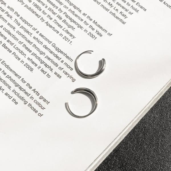 Volume Round Ring Silver One Touch Ring Earrings