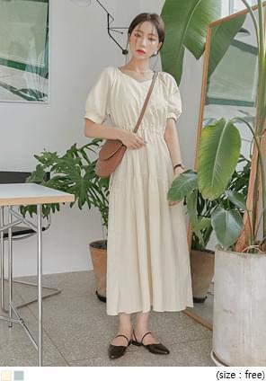 Drawstring Detail Long Dress