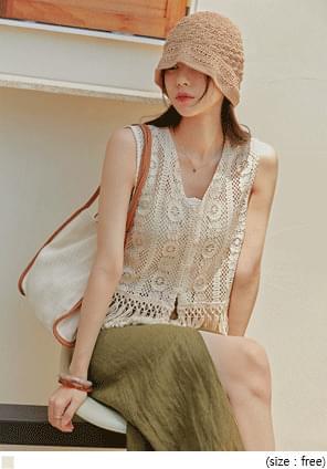 See-Through Crochet Lace Vest