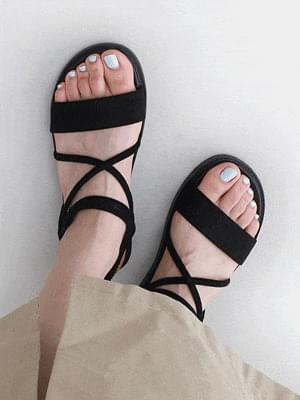 Malang Upper Cross Strap Banding Sling Bag Flat Sandals 11038 ♡Second Sold Out♡