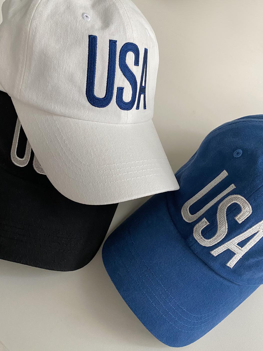'USA' embroidered ball cap