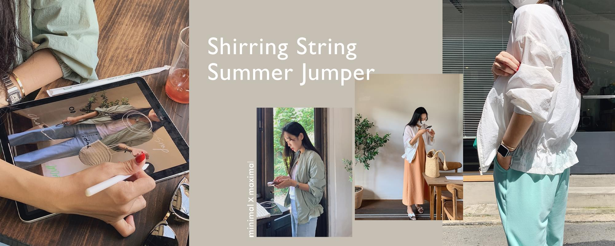 《Exclusive order/Same day delivery》MMMM/ Shirring string summer Jacket
