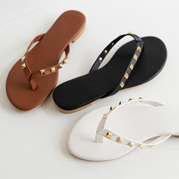 Studded Split Slippers #86613