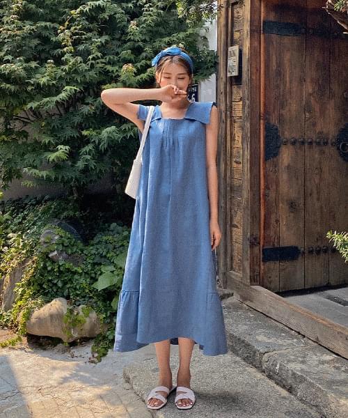 Mayby Sailor Dress - Linen 100