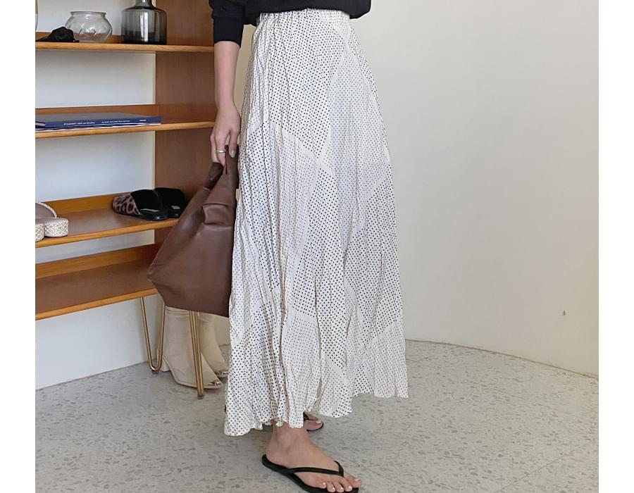 Origin dot wrinkle skirt