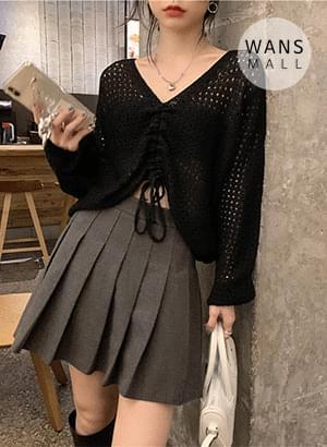 kn5322 Bonia Punching Shirring Summer Knitwear