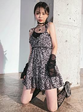 leopard judy mini Dress