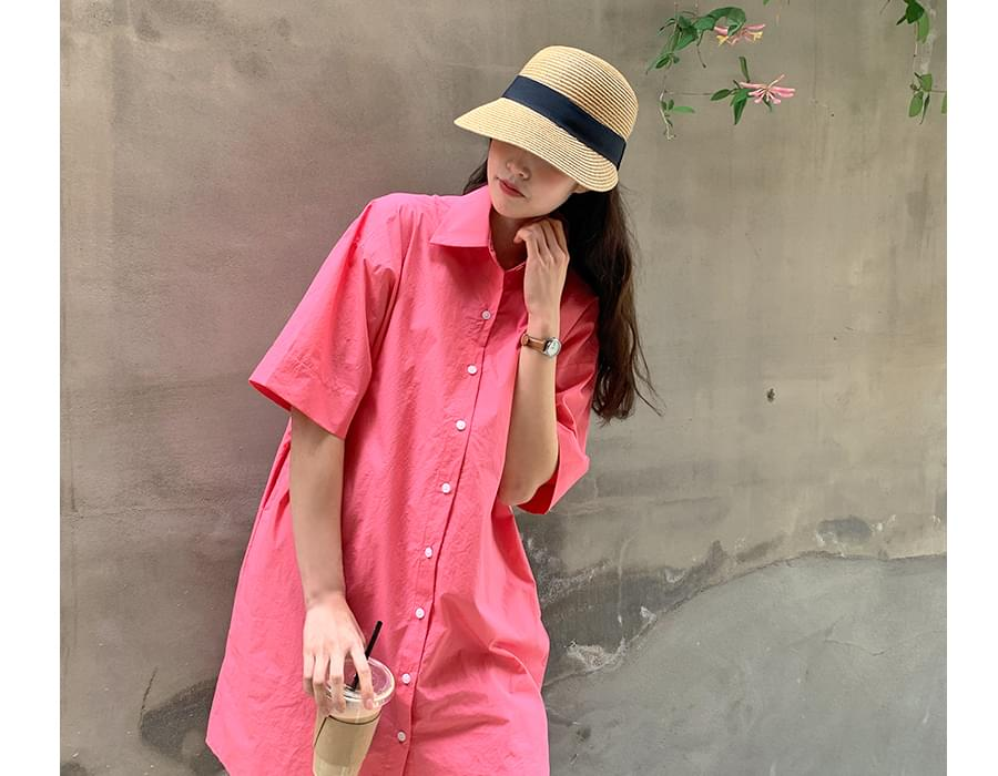 Mango color shirt Dress