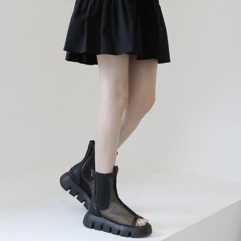 Click open toe mesh sandals