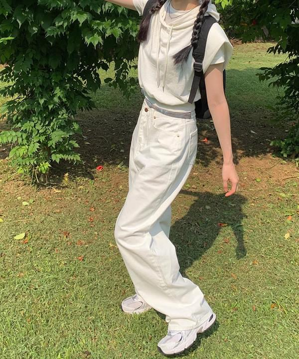 Yves White Wide Pants