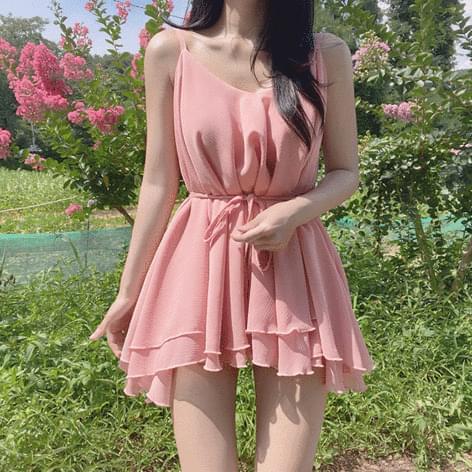 Frit Cancan Sleeveless Chiffon Dress