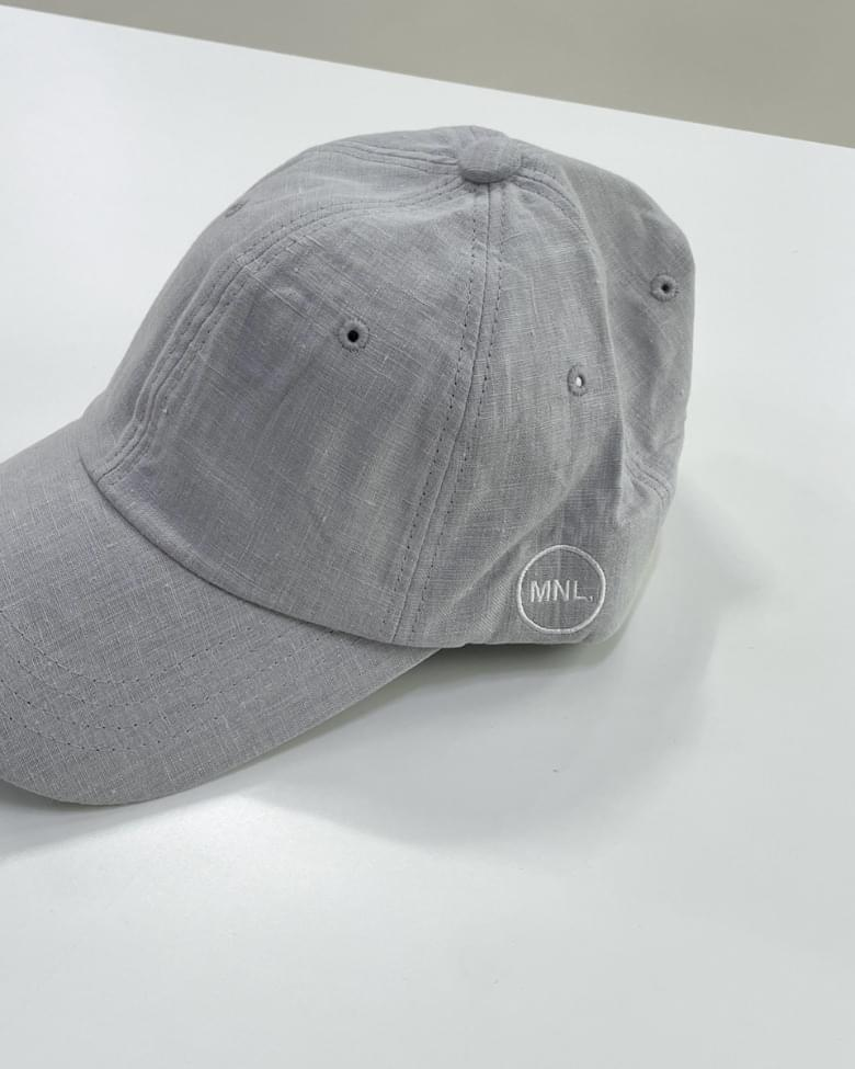 Daily Linen Embroidered Ball Cap