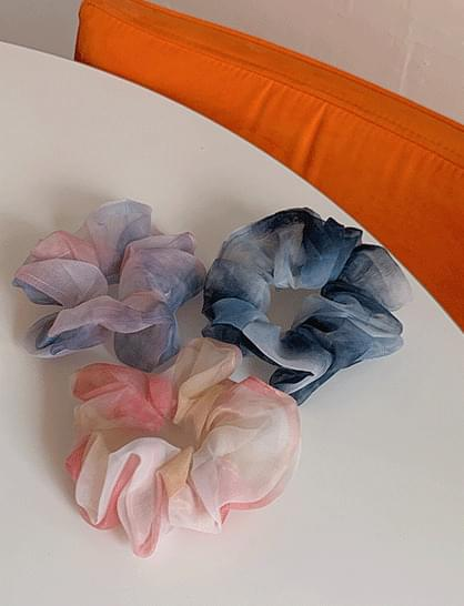 watercolor hair tie