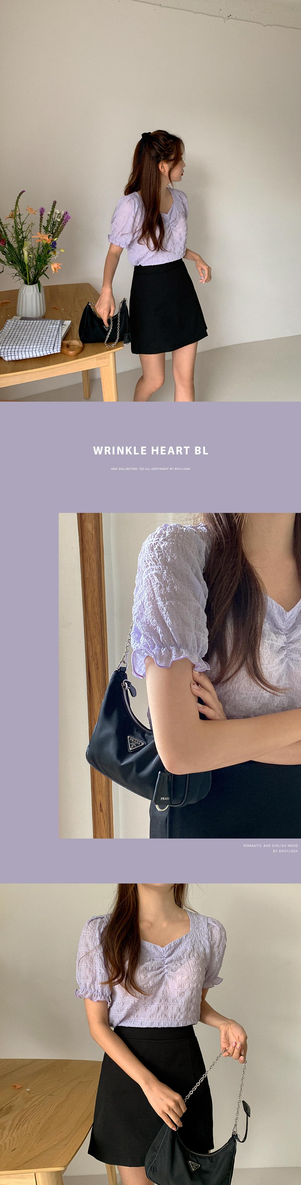 wrinkled heart blouse