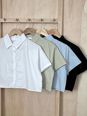 Summer Cotton Crop Short Sleeve Shirt Shirt