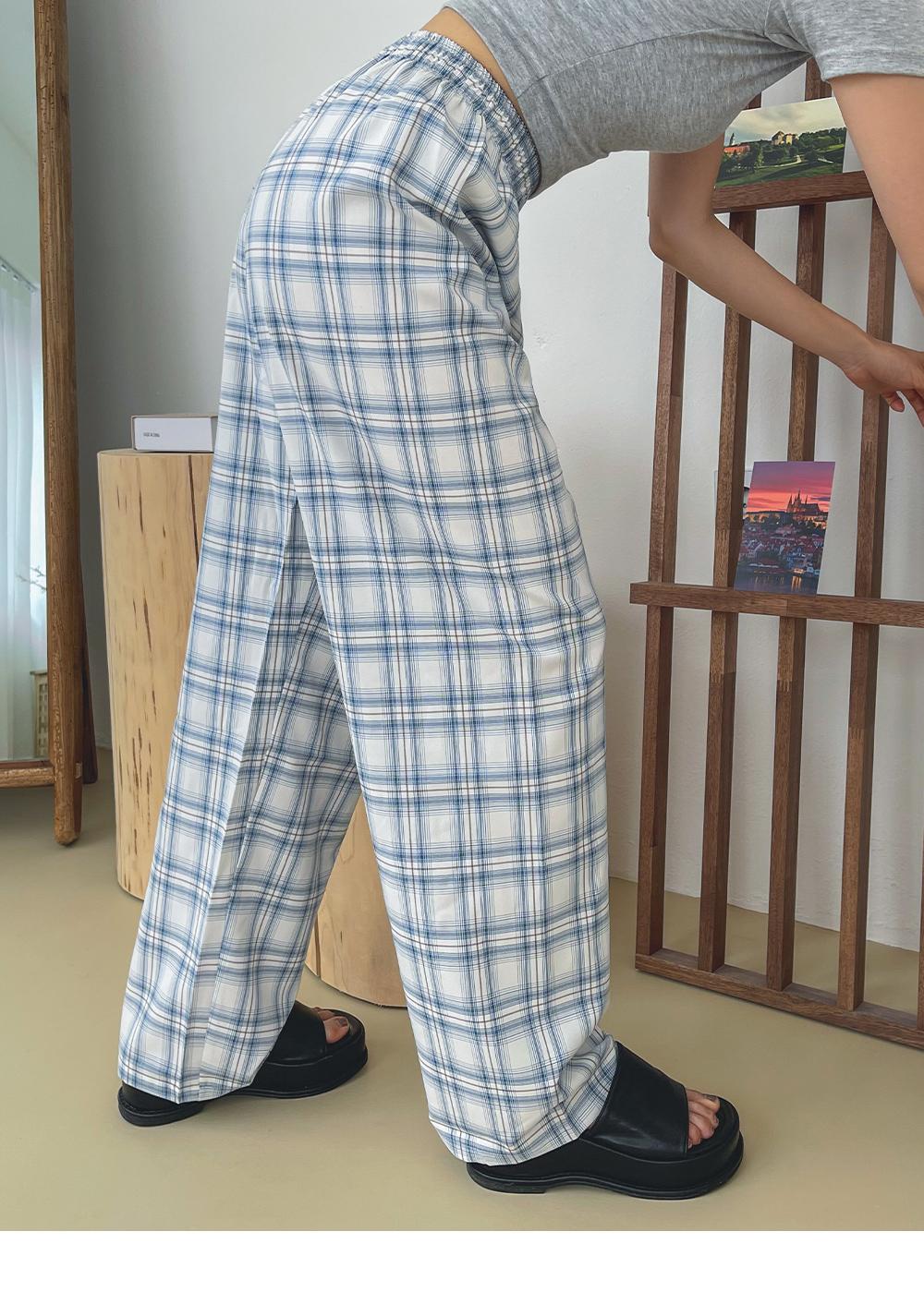 Chemd Check Wide Banding Pants