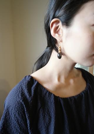 black berry wood earrings