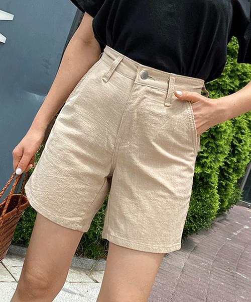 Linen Basic 3 Piece Cotton Shorts