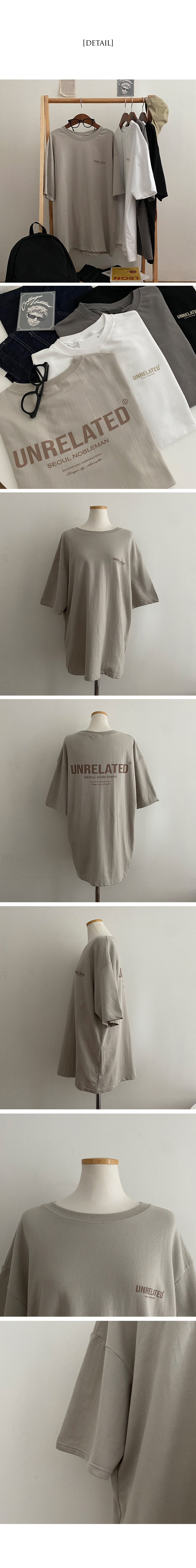 Unrelated lettering overfit short-sleeved T-shirt