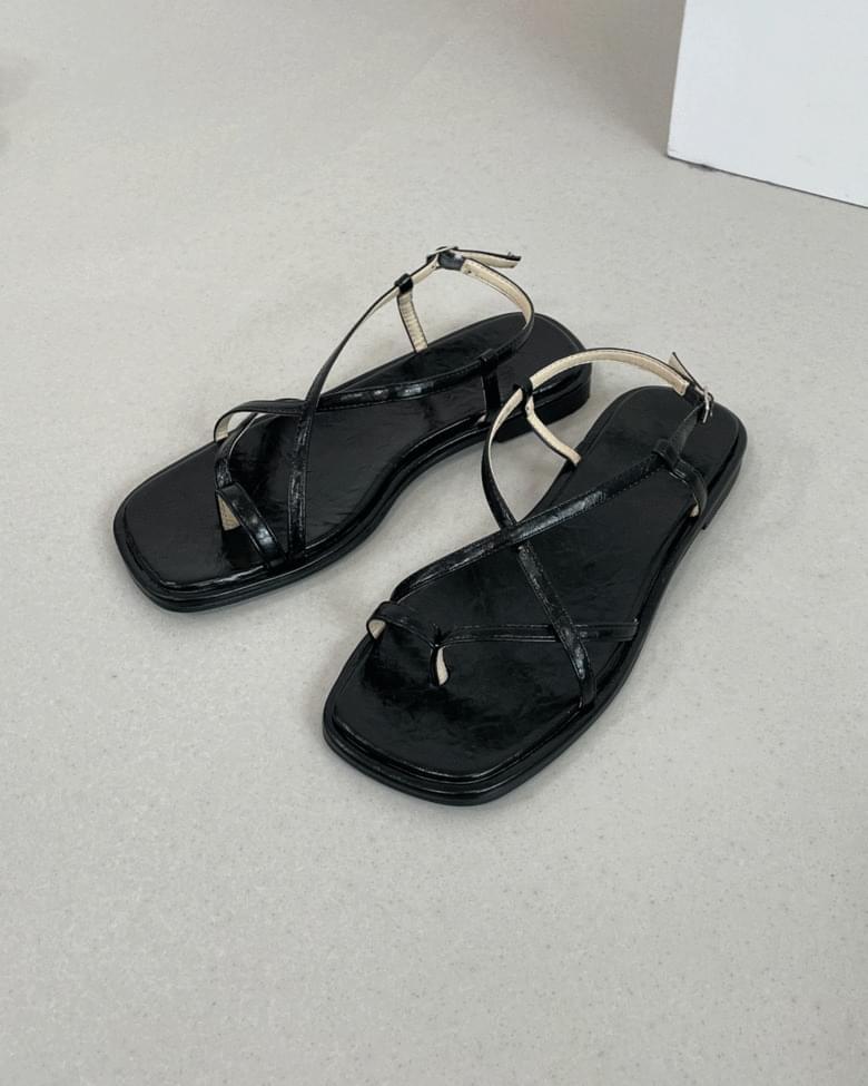 bono square split-strap sandals