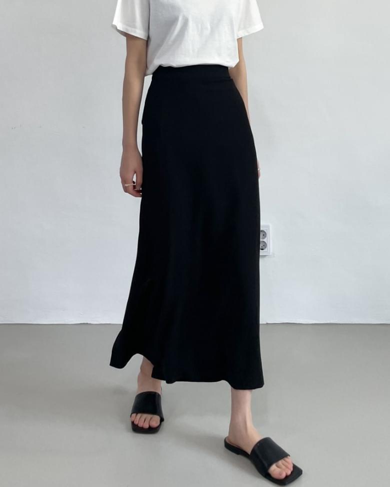 Moss High Waist Long Skirt