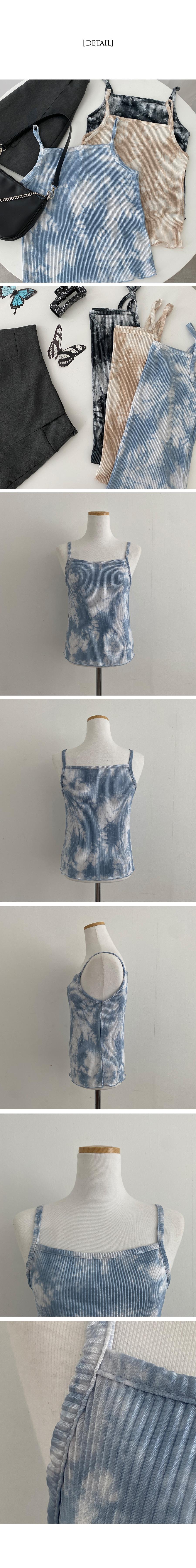 Printed tie-dye pleated Sleeveless