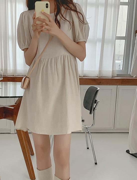 bell linen midi Dress