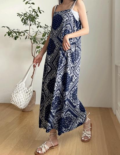 paisley bustier Dress