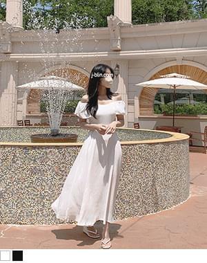 LoQ Vacance Self Wedding Split Sleeveless Long Dress