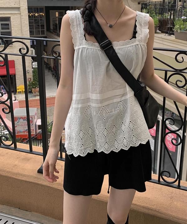 Lace Middle Sleeveless