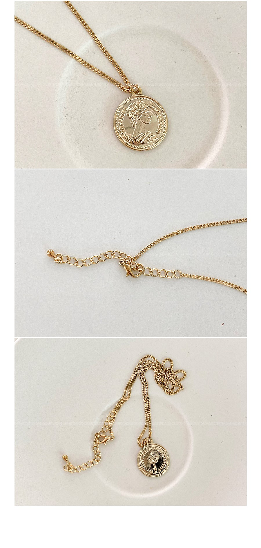 coining gold necklace