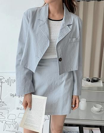 Lacey stitch cropped jacket