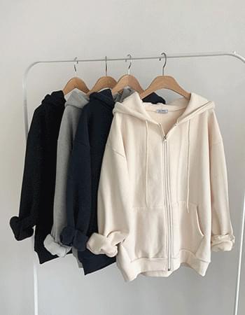 Last day # Woolen hooded zip-up